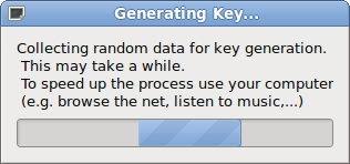 wait for end of key generation