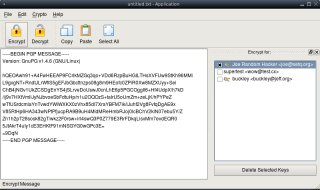 gpg4usb-svn encrypting Message (Linux)